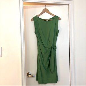 DIANE VON FURSTENBERG New Della green silk sheath